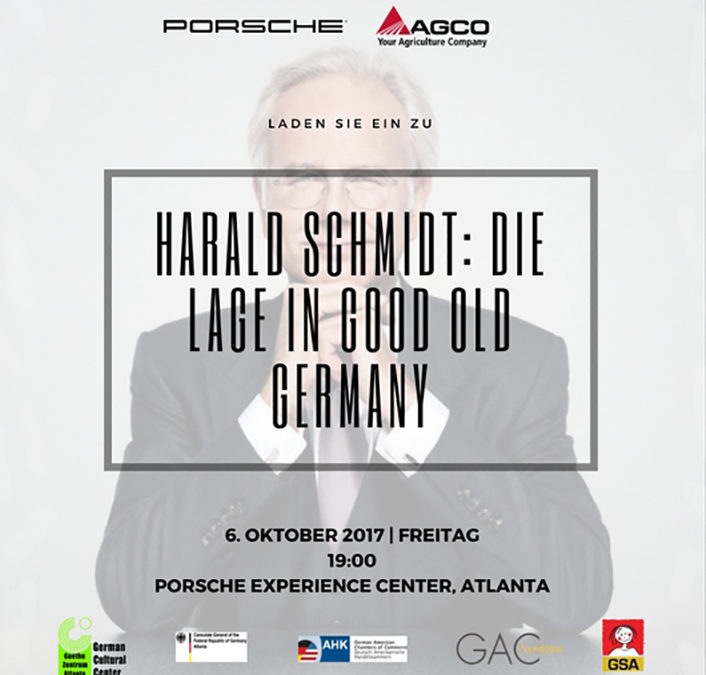 Invitation: Harald Schmidt in Atlanta!